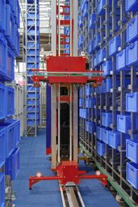 Robotic Warehouse Plastic Crates Storage Retrieval System