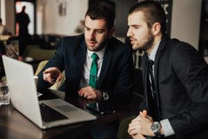Businessmen applying for SBA loans
