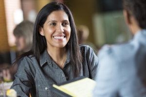 Businesswomen getting SBA business loan