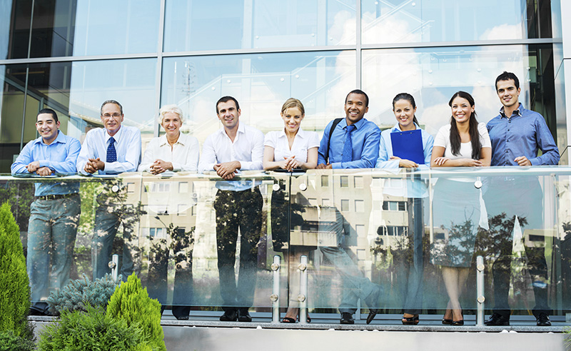 Commercial real estate workers