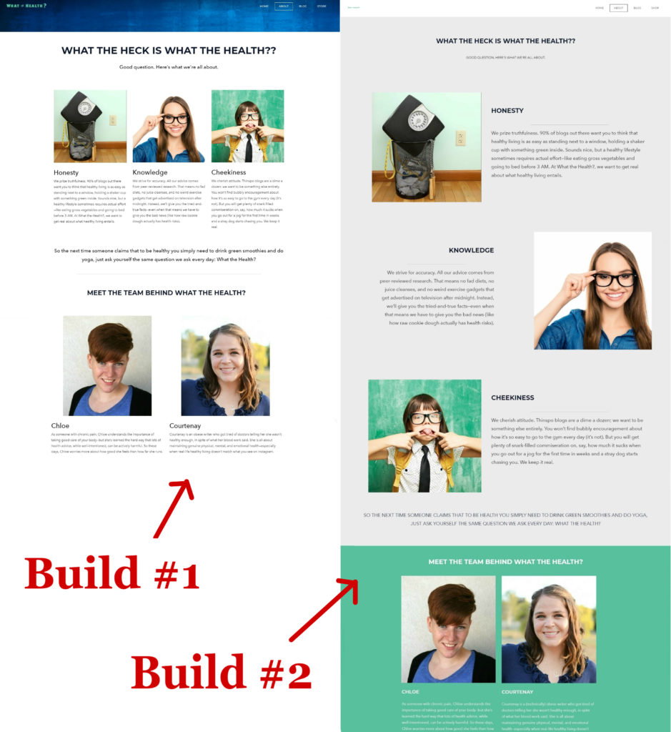 comparing weebly site builder