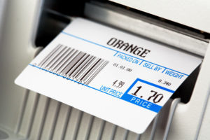Retail barcode printer